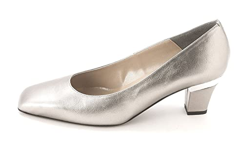 Proxy Womens P0003 Square Toe Classic Pumps Pewter Size 9.5