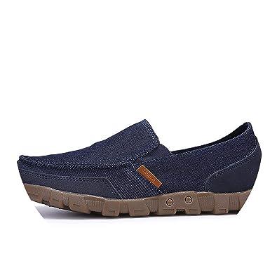 Washed Denim Casual Doug Peas Shoes Foot Pedal Shoes Lazy Canvas Flats Plus Size 38-