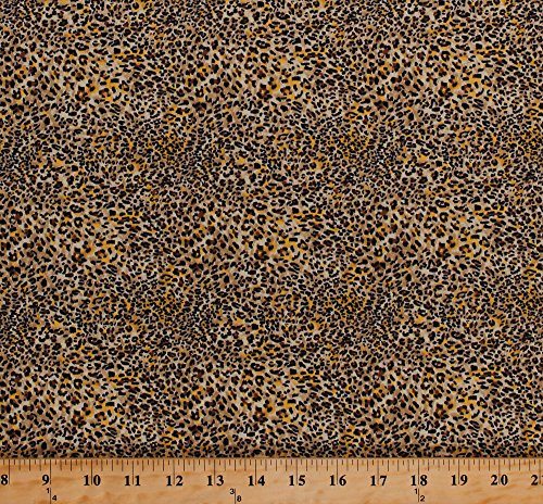 Cotton Leopard Print Spots Spotted African Animal Print Skin Pattern It's a Jungle Out There Cotton Fabric Print by The Yard (5005)