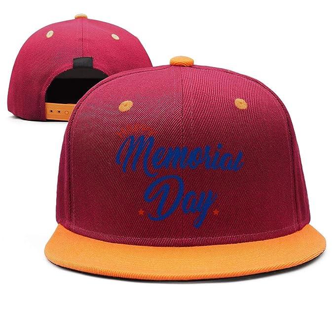 ae3d411c04 Maroon Cute Cap Happy Memorial Day Blue All Cotton Mens' Womens Sun ...