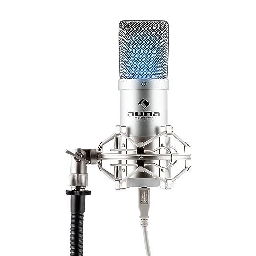 142 opinioni per auna MIC-900-LED microfono a condensatore (capsula elettrete di 16mm, cavo USB,