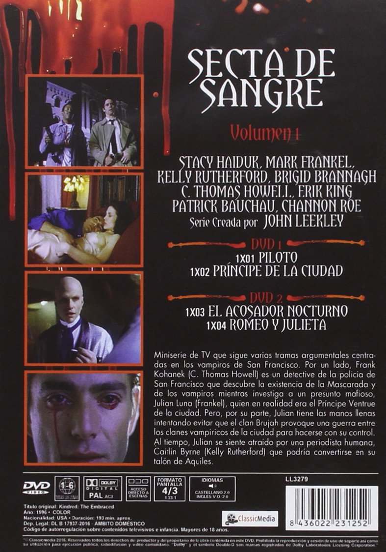 Secta de Sangre Vol. 1 Kindred: The Embraced 1996 DVD ...