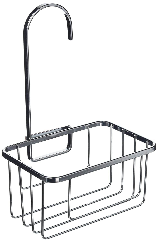 Tier basket shower caddy mild steel rust free stick n lock bathroom - Croydex Shower Riser Rail Hook Over Caddy Silver Amazon Co Uk Kitchen Home