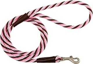 """product image for Mendota Pet Snap Leash, 1/2"""" x 6', Pink Chocolate"""