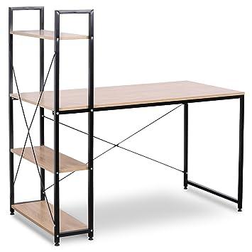 WOLTU TSB01hei Schreibtisch Computertisch Büromöbel PC Tisch ...