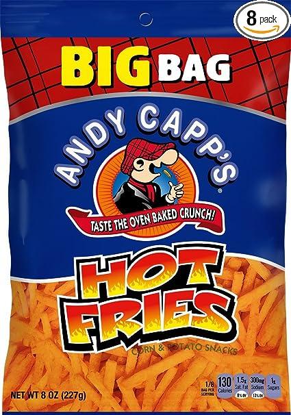 Andy Capps Big Bag Hot Fries, 8 oz, 8 Pack