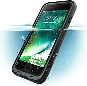 i-Blason Case for iPhone 7 Plus 2016 / iPhone 8 Plus 2017 Release, Aegis Waterproof Full-Body Rugged Case with Built-in Screen Protector (Black)