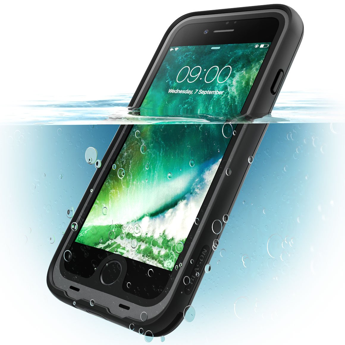 on sale 6308e 9fdfc i-Blason Waterproof Case Designed for iPhone 7 Plus/iPhone 8 Plus,  Full-body Rugged Case with Built-in Screen Protector (Black)