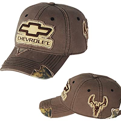 Chevrolet Frayed Camo Hat (Brown): Automotive
