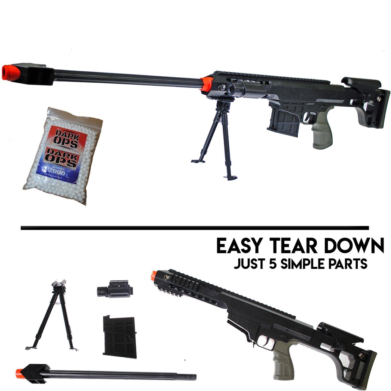 UK Airsoft Sniper Rifle Barrett M82A1 Gun M107 Tactical Pistol Grip1000  Free BBS