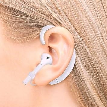 Airpods - Gancho de sujeción para auriculares inalámbricos, para Airpods con iPhone 8, 8 Plus, X, 7, 7 Plus: Amazon.es: Electrónica