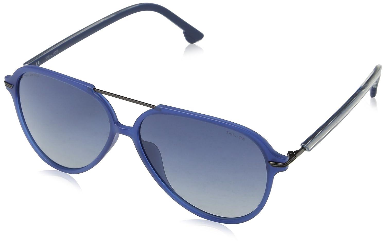 Police Drop 2 Gafas de sol, Azul (Matt Milky Dark Blue), 58 para Hombre