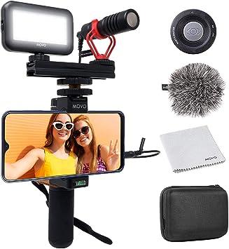 Kit de Vídeo para Smartphones V1 de Movo con Empuñadura, Micrófono ...