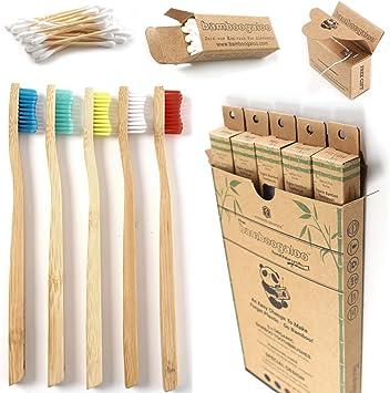 BAMBOOGALOO Cepillo de Dientes Orgánico Bambú x5 -Cepillos de ...