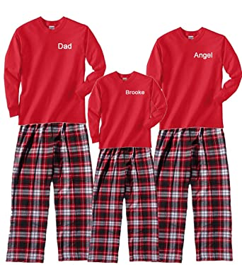c69fd840ca Amazon.com  Footsteps Clothing Personalized Christmas Pajamas for ...