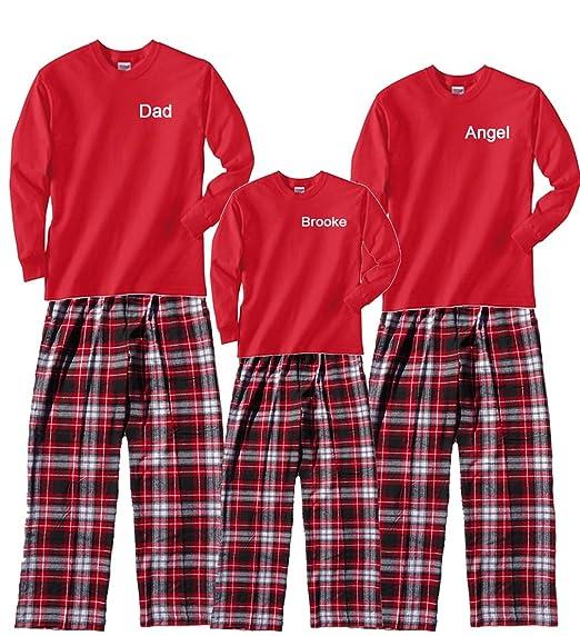 Personalized Christmas Pajamas Kids.Amazon Com Footsteps Clothing Personalized Christmas