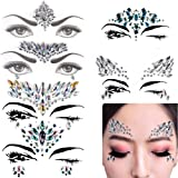 6 Sets Mermaid Face Gems Festival Jewels Crystals Bindi Rainbow Tears Rhinestone Tattoo Face Rocks by PIAOPIAONIU