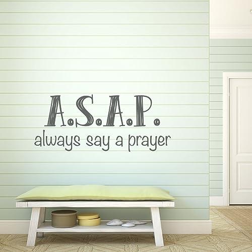 Prayer Wall Decals U0026quot;ASAPu0026quot;, U0026quot;Always Say A Prayeru0026quot;  Religious