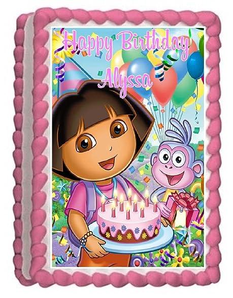 Dora The Explorer 4 Edible Frosting Sheet Cake Topper