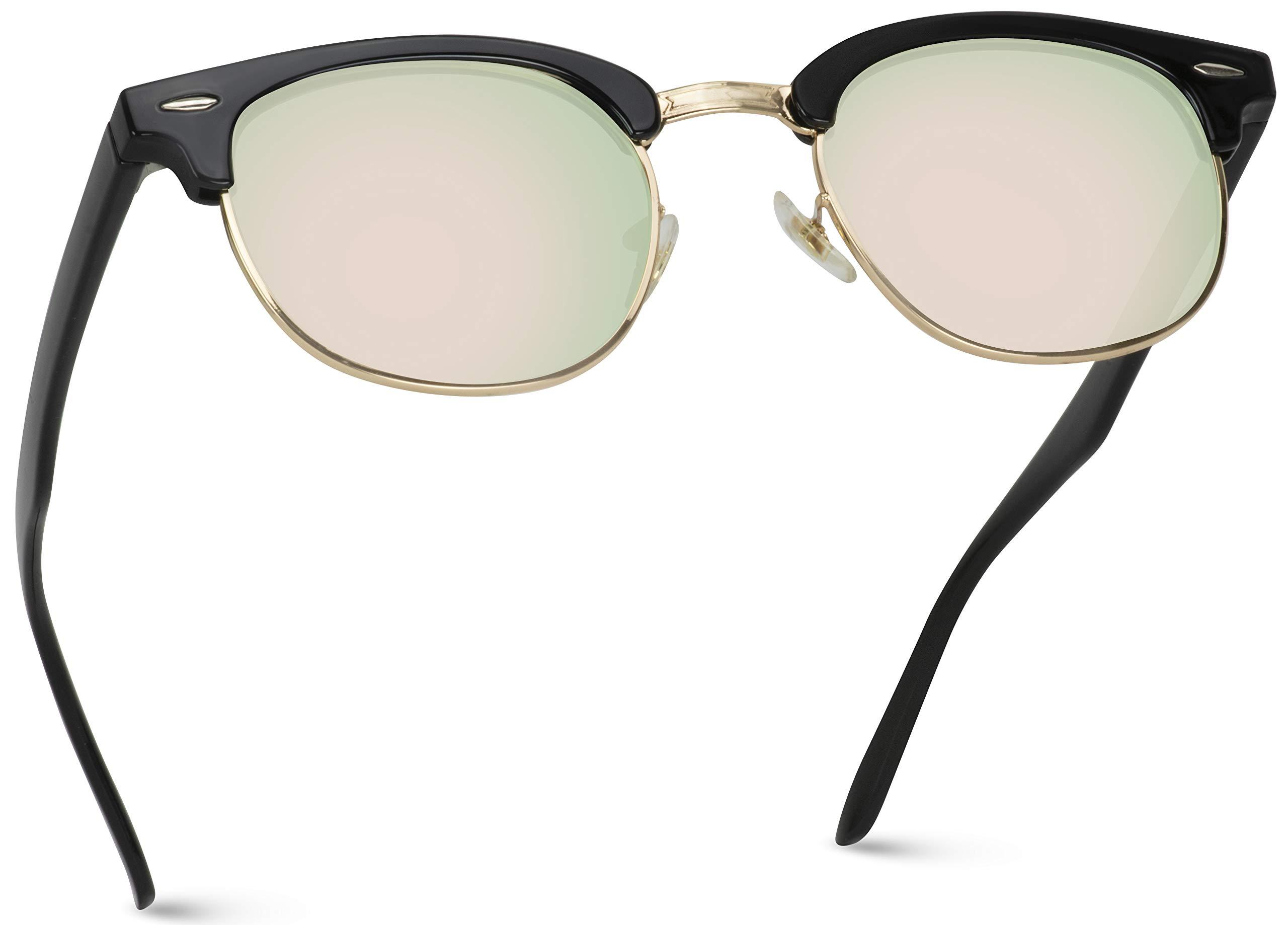 WearMe Pro - Polarized Classic Half Frame Semi Rimless Retro Sunglasses Women Men by WearMe Pro