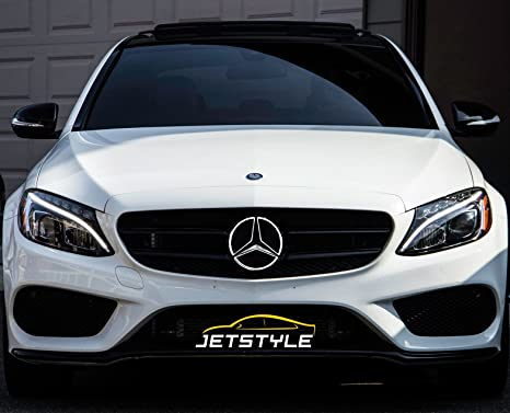 JetStyle LED Emblem for Mercedes Benz 2011-2018, Front Car Grille Badge,  Illuminated Logo Hood Star DRL, White Light - Drive Brighter
