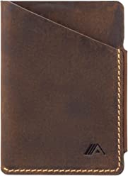 A-SLIM Ninja - Super Slim Card Holder - Minimalist Wallet - 2 Slots (Raw Tan)