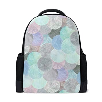 2bbf8e1e86 Image Unavailable. Image not available for. Color  Grey Teal Pink Mermaid  Scales Pattern Backpack ...