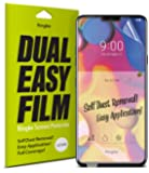 Ringke Dual Easy Full Coverage Screen Protector for LG V40 High Resolution [Anti-Smudge Coating] Easy Application Case Friendly Screen Protector for LG V40 ThinQ (2018) [2-Pack]