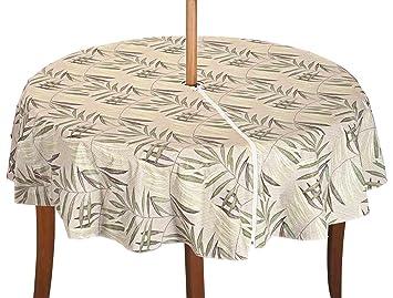 Amazon Com Patio Table Cover With Zipper Fern Design 70 Round