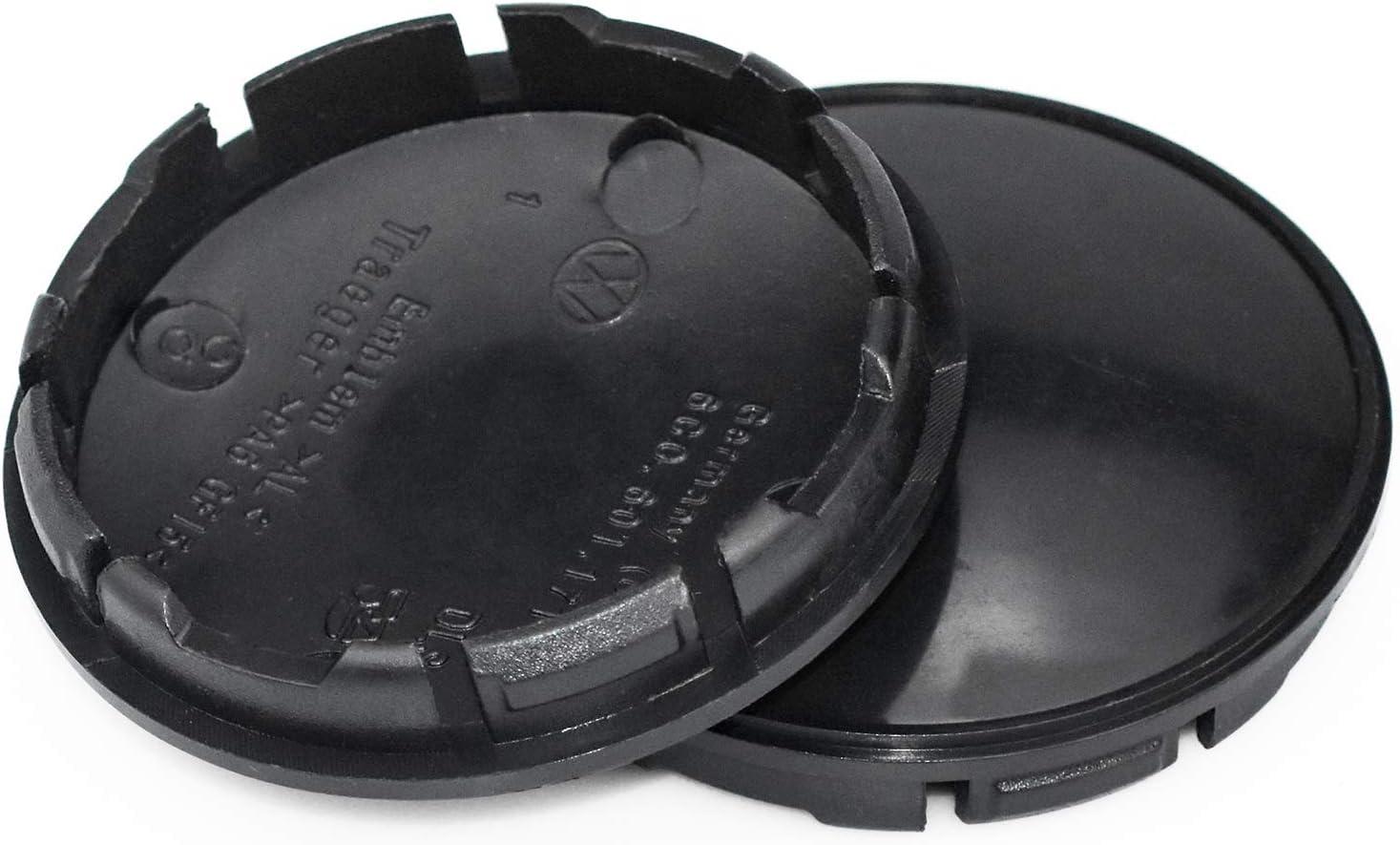 Noir COCOCITY 4 Pcs Cache-moyeux en Plastique ABS 56 mm Finest Folia Capuchons de Centre Enjoliveurs de Roue Universel pour Voiture