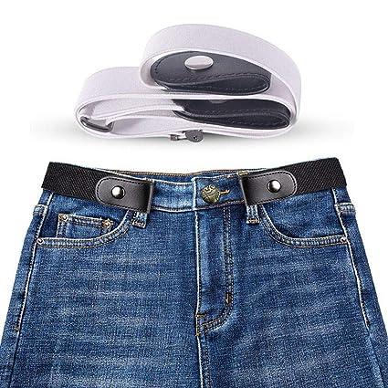 a9fd79f74a66 Womdee  Eacute Lastique Invisible Ceinture sans Boucle - Élastique Taille  Ceinture Convient Jeans pour Quotidiens
