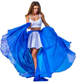 Simlehouse 2 Layers Chiffon Detachable Train for Prom Party Dress Remove Skirt Plus Size