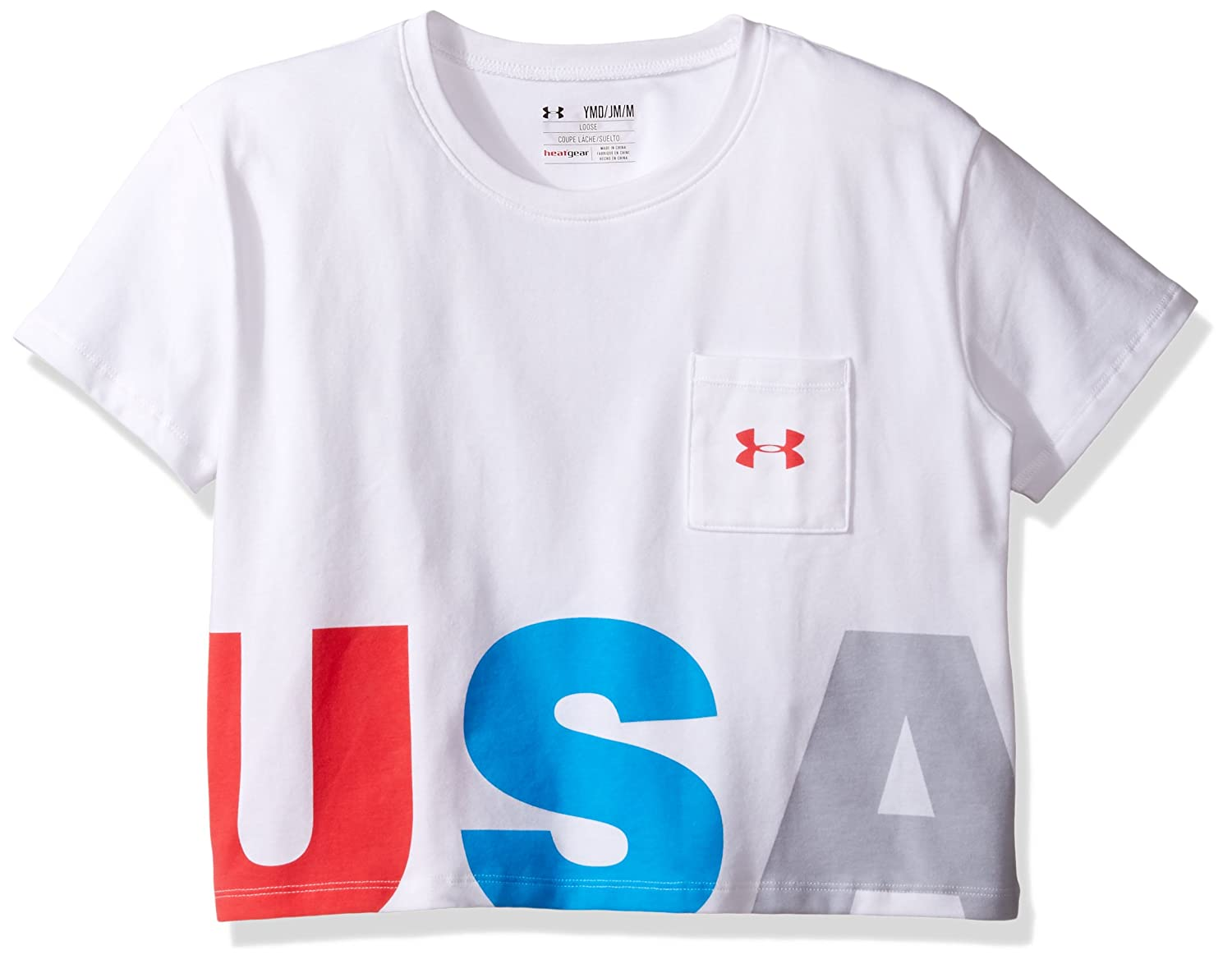 8cf0fd9bb5 Amazon.com: Under Armour Girls USA Crop Short Sleeve Tee: Clothing