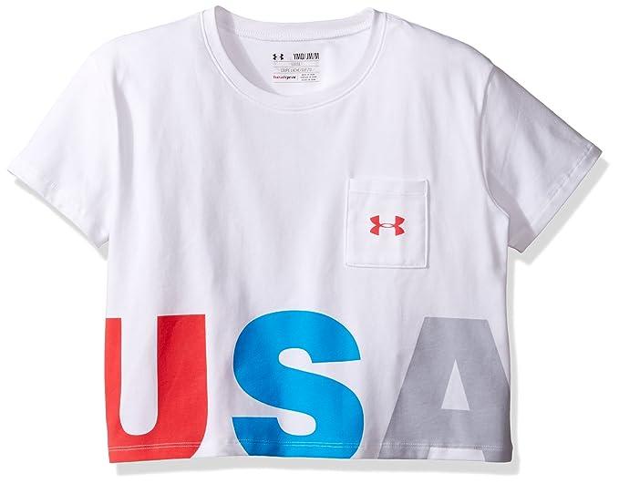 b72a4cd168 Amazon.com: Under Armour Girls USA Crop Short Sleeve Tee: Clothing