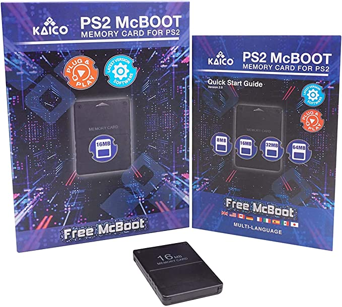 Kaico Free Mcboot 16MB PS2 Memory Card Running FMCB PS2 Mcboot 1.966 for Sony Playstation 2: Amazon.es: Electrónica