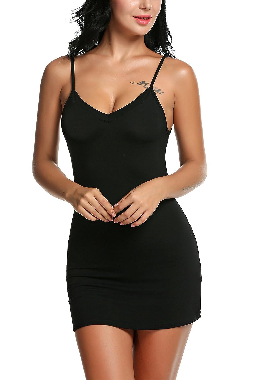 Avidlove Women Modal V Neck Nightwear Sleeveless Straight Dress Mini Short Slips AML005029#