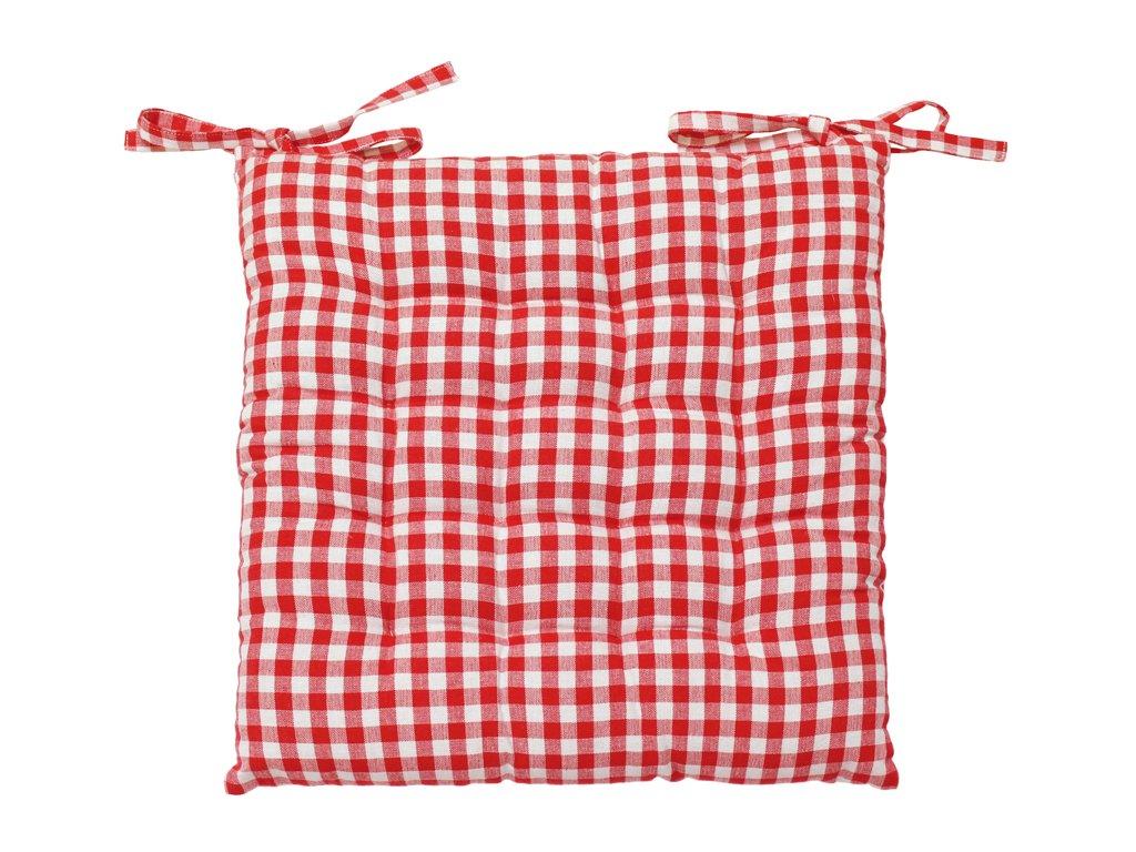 40 x 40 x 5 cm Soleil dOcre Coussin Dessus de chaise capitonn/é VICHY Gris Coton