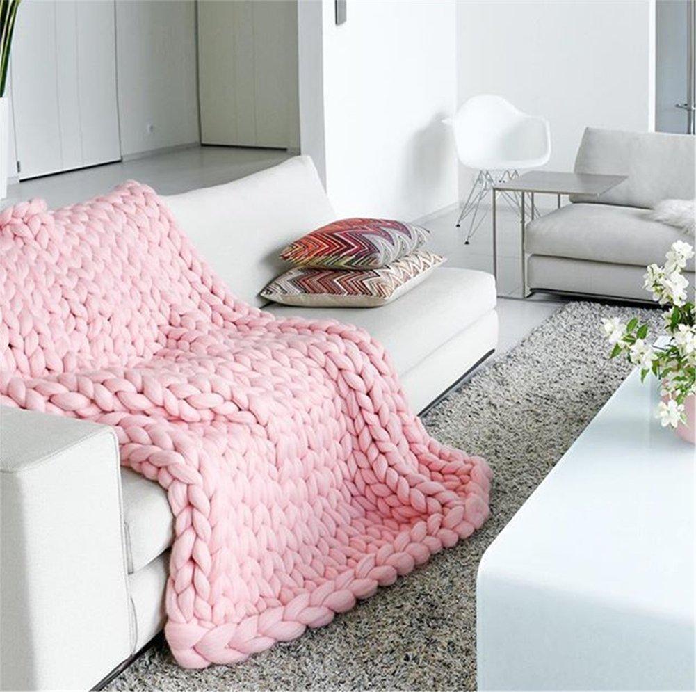 Chunky Yarn Super Bulky Giant Wool Yarn Roving For Arm Knitting Extreme Knitting (4.4lbs(2kg), Pink) by zhengjun (Image #2)