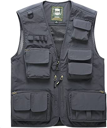 Amazon.com: Men's Fishing Vest with 15 Multi Pockets Travel Photography  Vest Outdoor Hunting Breathable Jackets: Sports & Outdoors
