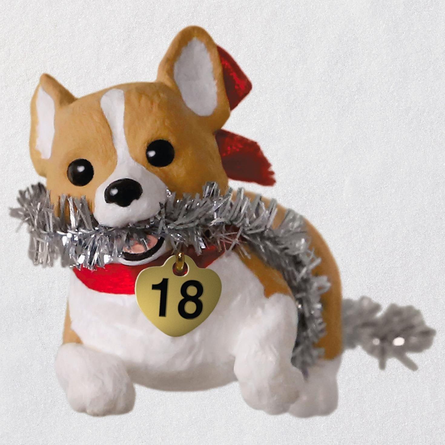 Hallmark Keepsake Christmas Ornament 2018 Year Dated, Puppy Love Welsh Corgi