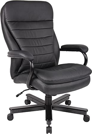 Big And Tall Executive Office Chair For Heavy Duty Big Man Black Pu Or Leatherette Amazon Ca Home Kitchen