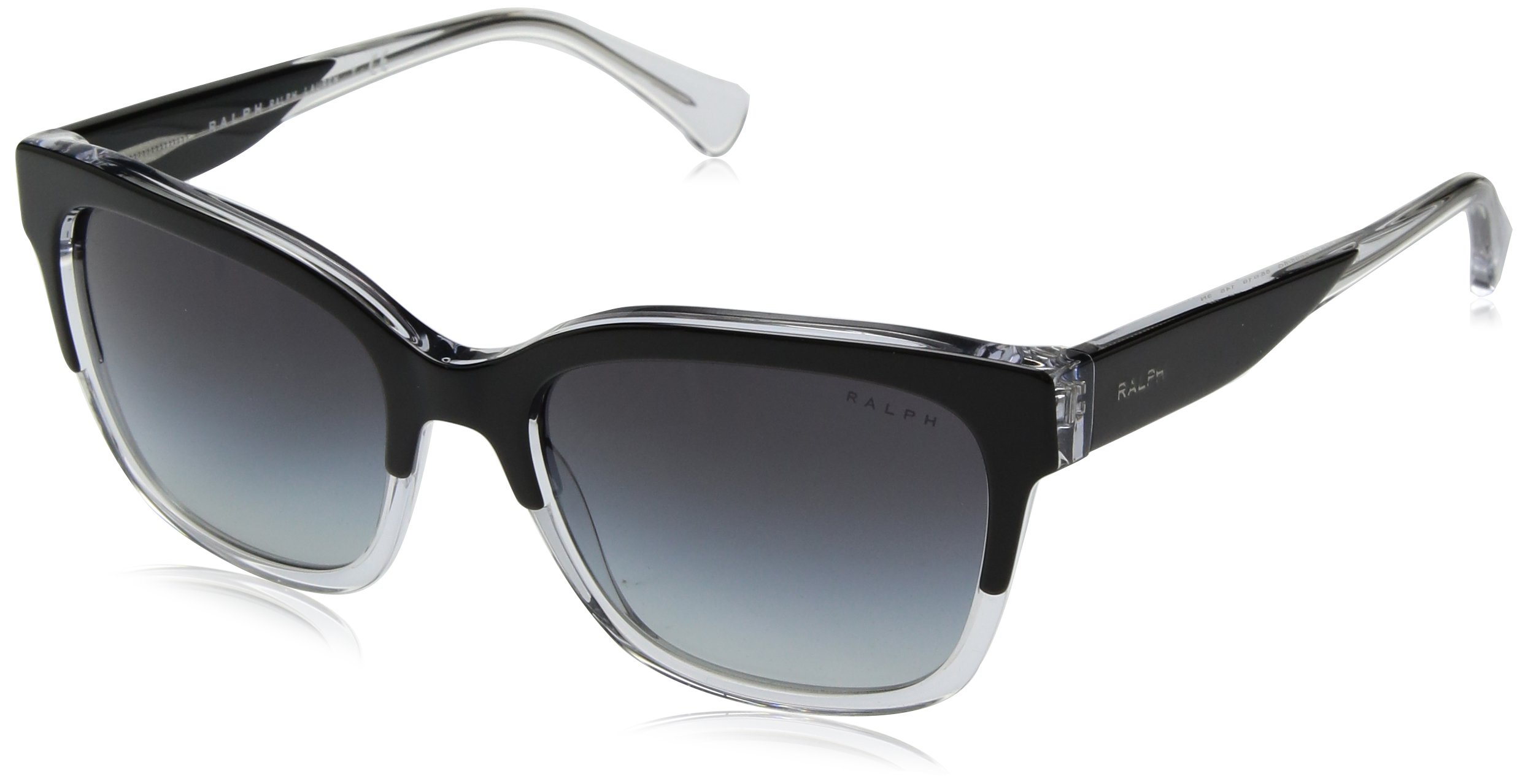 Ralph by Ralph Lauren Women's 0ra5247 Square Sunglasses, Top Black/Crystal, 55.0 mm