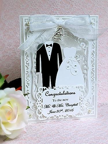 Amazon Com Personalized Wedding Congratulations Card Handmade