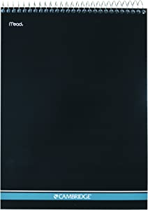 "Mead Cambridge Notebook, NotePad, 8.5"" x 11"", College Ruled, Wirebound, Stiff back, Navy (59882)"