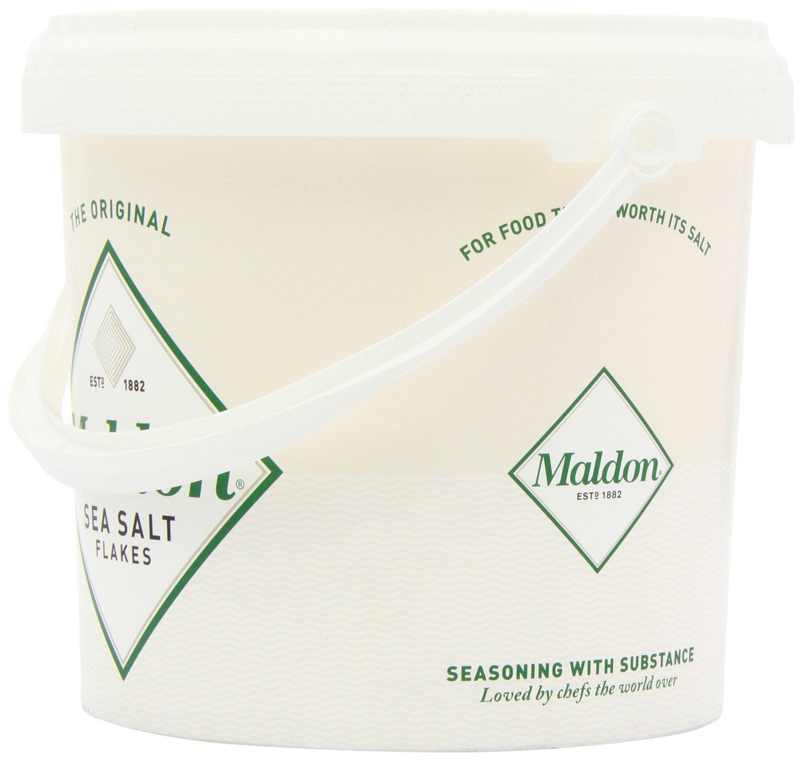 Maldon Sea Salt Flakes 1.5kg/3.3lbs Tub by Salt Traders (Image #5)