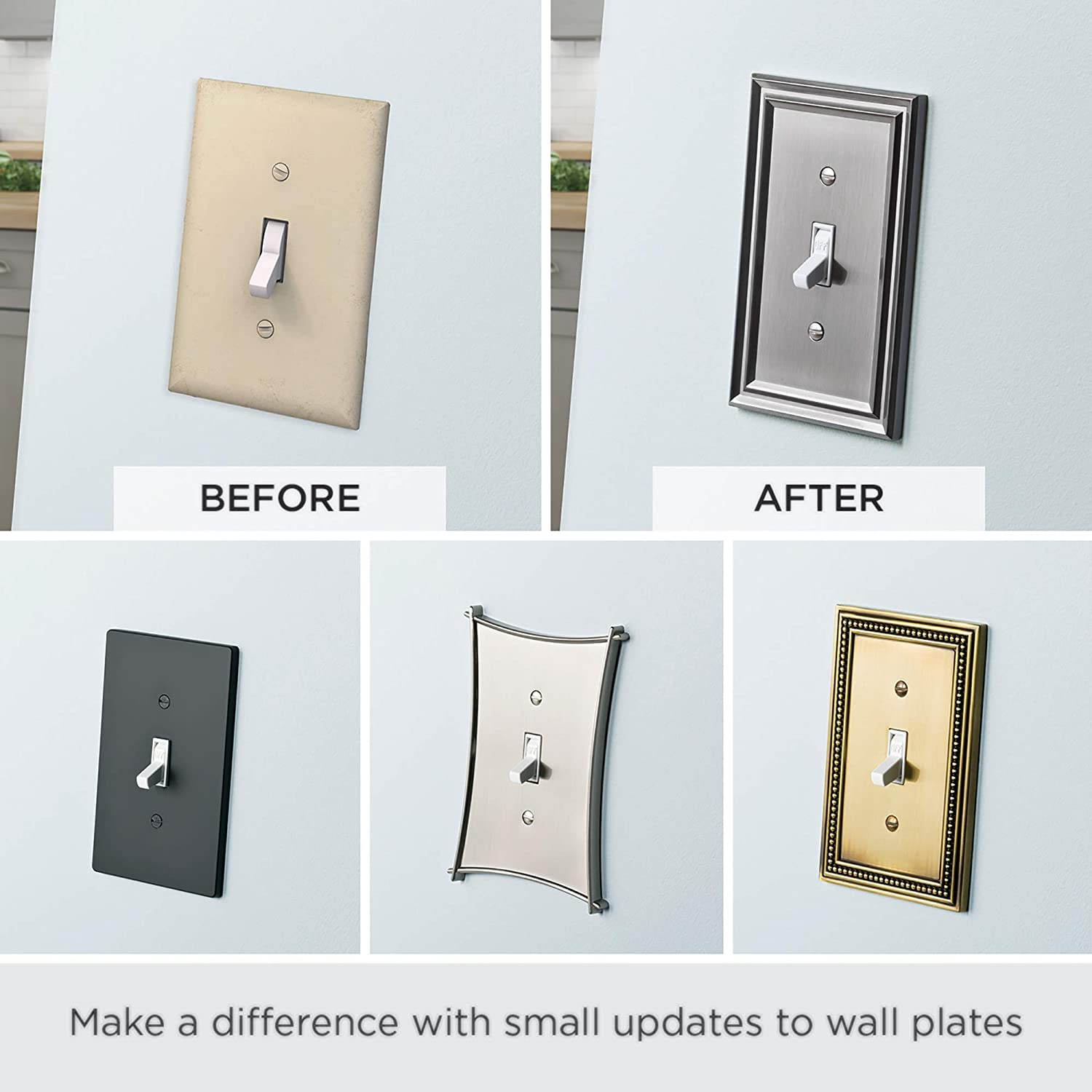 Brainerd 64651 Wood Square Double Duplex Outlet Wall Plate//Switch Plate//Cover Unfinished