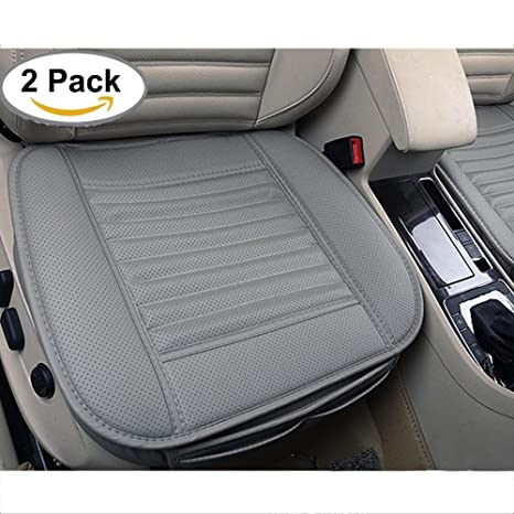 amazon com kobwa edge wrapping car front seat cover, 2pcs universalkobwa edge wrapping car front seat cover, 2pcs universal breathable pu leather bamboo charcoal auto