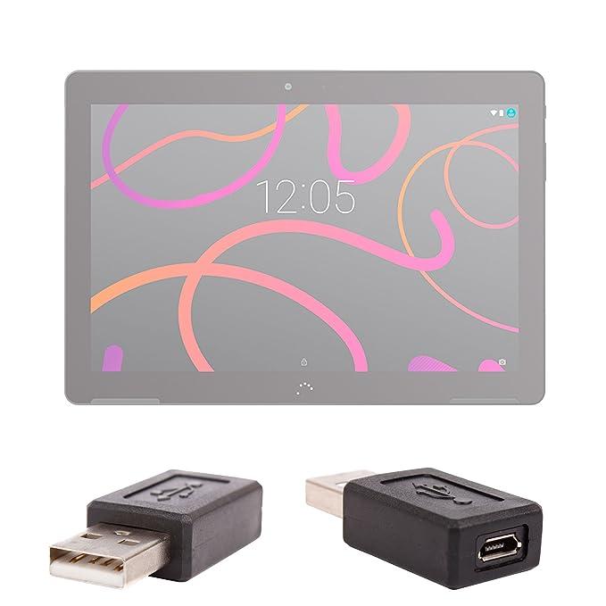 Hembra DURAGADGET Adaptador USB A MicroUSB para BQ Aquaris M10 Macho