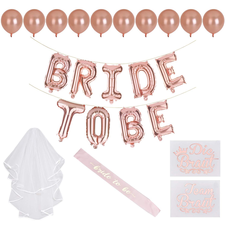 Team Bride Hen Night Bachelorette Party Decoration Sash Accessories Balloons