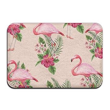 Weiche Rutschfeste Flamingo Flower Badteppich Coral Teppich Fussmatte